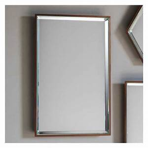 Modern Copper Framed Wall Mirror 35 x 55cm | Exclusive Mirrors