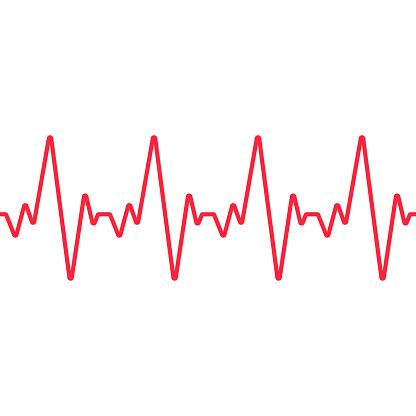 Heartbeat Line Seamless Background Vector Stock ...