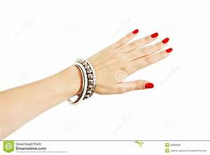 Woman Hand With Silver Bangles Royalty Free Stock Photos ...