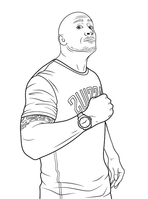 the rock coloring pages eskayalitim