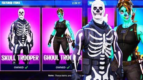 Skull Trooper And Ghoul Trooper Coming Back In Fortnite