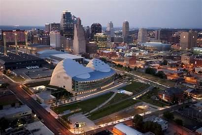 Kauffman Missouri Kansas Center Downtown Arts Aerial