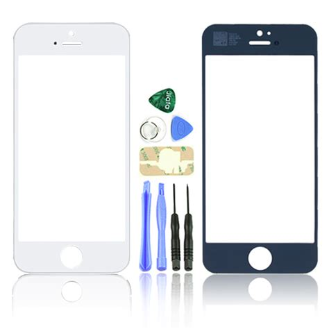 iphone 5 screen repair kit white black screen replacement front glass lens for iphone