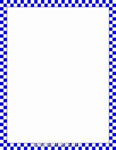 Blue Gingham Border Clip Art (6+)