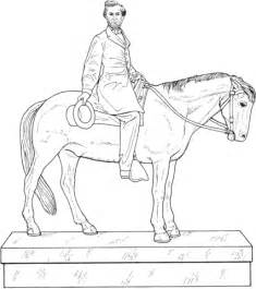 abraham lincoln statue coloring page supercoloringcom With lincoln flower car