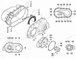 Arctic Cat Side By Side 2014 Oem Parts Diagram For Clutch
