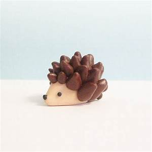 Clay Animal Figurine, Hedgehog Figurine, Polymer Clay ...