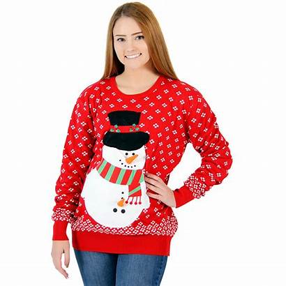 Sweater Christmas Snowman Sweaters Womens Ugly