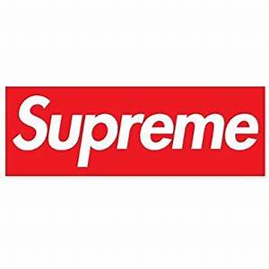 Supreme Logo Sticker