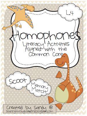 homophones literacy station freebie  images