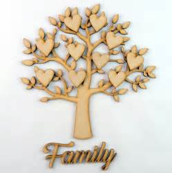 Ebay Christmas Trees by Family Tree Set Mdf Laser Cut Wooden Craft Blank Shape