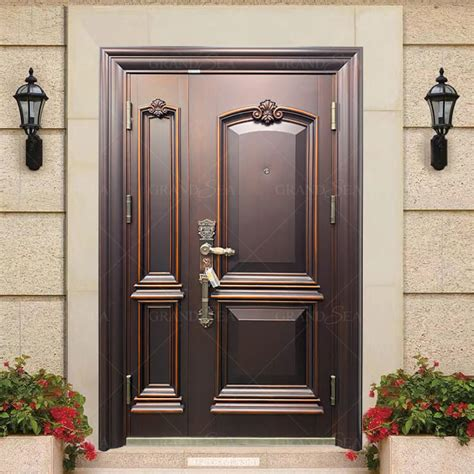 copper color external solid metal security front doors  homes chinacopper color