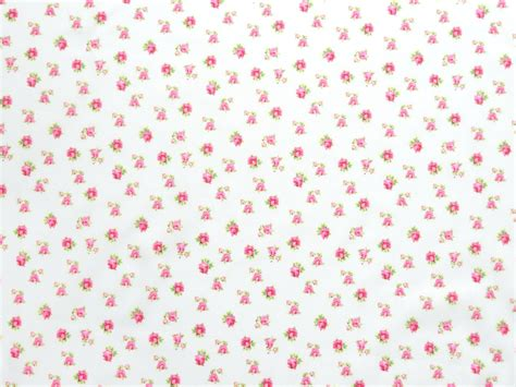 Cotton Fabric Small Roses Leaves Antique Pink- Cotton Fabric