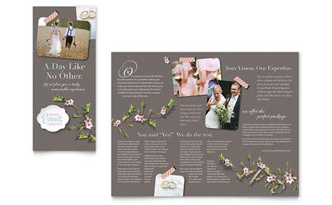 wedding planner brochure template word publisher