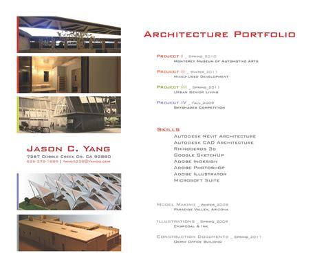 Architecture Portfolio Design Table Of Contents Www