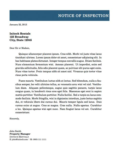 letter  notice template latex professional letter