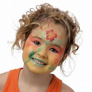 maquillage enfant facile, pochoir maquillage grim tout, maquillage petite fille, maquillage