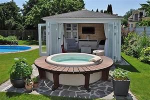 Whirlpool Im Garten : gartenpavillon sumatra aufbau und einrichtung im gartenparadies ~ Sanjose-hotels-ca.com Haus und Dekorationen