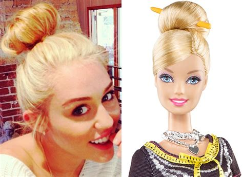 Miley Cyrus vs. Barbie: The Battle of The Blondes — PICS