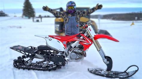 snowbike insane wheelies youtube