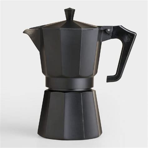black matte 6 cup stovetop moka pot espresso maker world market