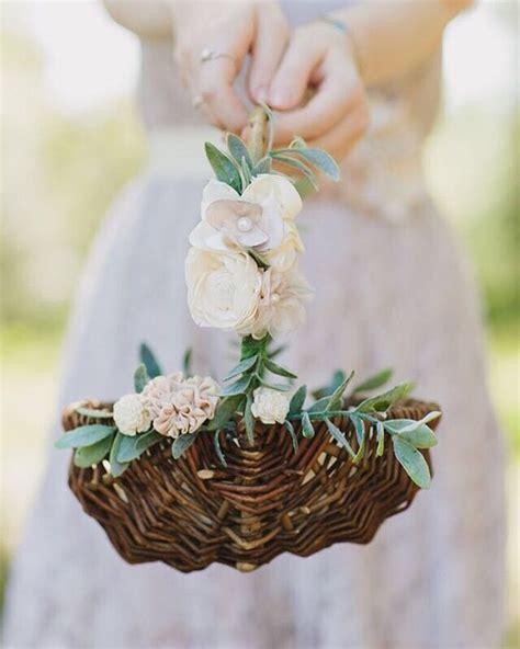 flower girl basket ideas  pinterest wedding