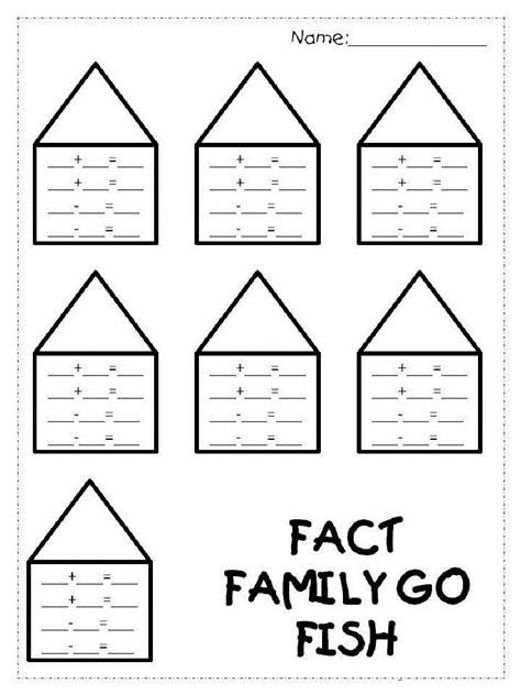 fact family worksheets st grade  easy math