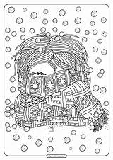 Scarf Coloring Printable Face Covered Whatsapp Tweet sketch template