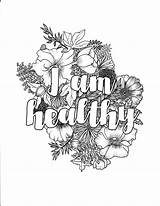 Coloring Pages Self Adult Affirmation Healthy Am Affirmations Printable Colouring Pdf Brain Yr Adults Getcolorings Mandala Person Re Getdrawings Similar sketch template