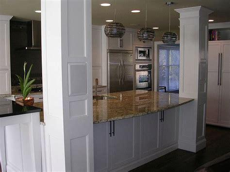 kitchen island with columns pinterest