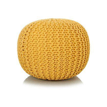 Living Room Accessories Asda by Yellow Knitted Pouffe Living Room Knitted Pouffe