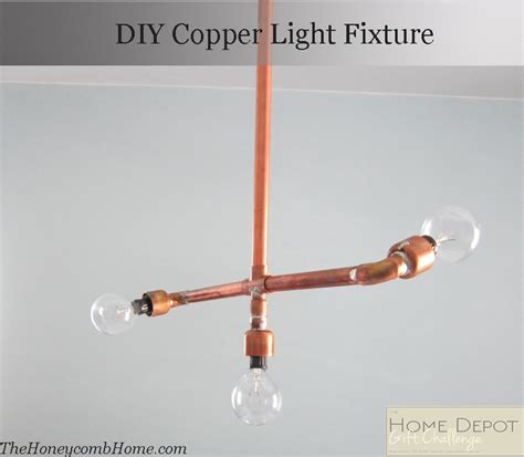diy copper light fixture