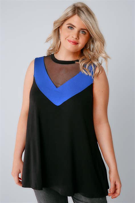 best of swing black blue chevron panel swing top with mesh insert plus