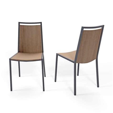 but chaise de cuisine chaise de cuisine en métal et bois concept 4 pieds