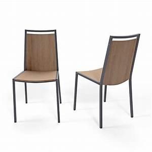 Chaise de cuisine en metal et bois concept 4 pieds for Petite cuisine équipée avec chaise pied bois
