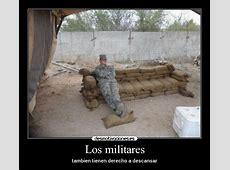 Los militares Desmotivaciones