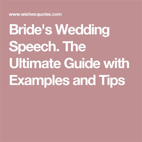 brides wedding speech  ultimate guide  examples