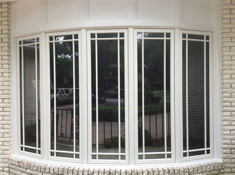 large pella bow window  prairie grilles windows