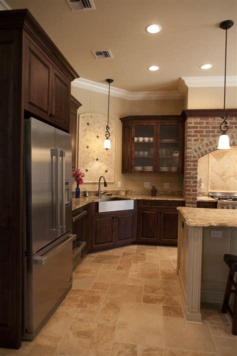 kitchen floor ideas with dark cabinets dark wood tile flooring in kitchen amazing tile