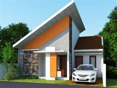 bentuk atap miring rumah minimalis   desain rumah