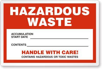 custom hazardous waste labels