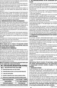 Faac 787453 Xtc 433 Rc User Manual Telecomando Rc Nemko