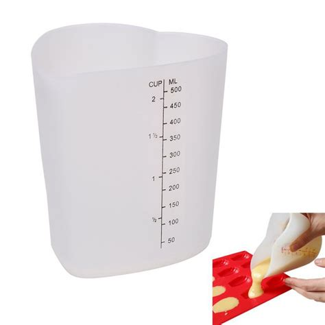 500ml to cups 500ml measuring cup shape silicone ovenproof pour cup measuring tools ebay