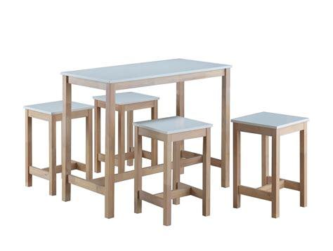 table haute de cuisine et tabouret table haute 4 tabourets maude tidy home
