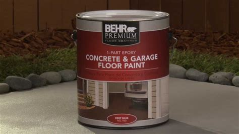 how to apply behr premium 1 part epoxy concrete garage floor paint youtube