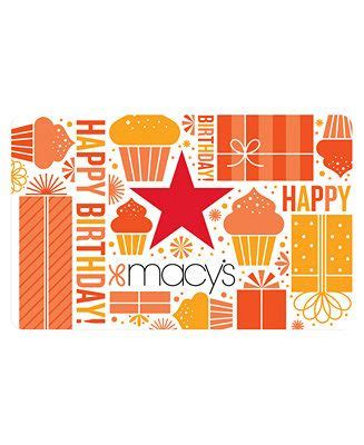 If you're a macy's cardholder, you can enroll in the star rewards program outlined above. Macy's Birthday E-Gift Card - Gift Cards - Macy's | Egift card, Birthday gift cards, Gift card