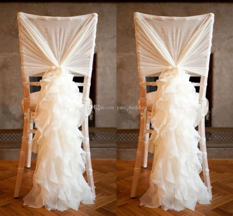 ruffled ivory chair covers for weddings 30d chiffon