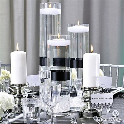black and white party table centerpieces white party decorations party favors ideas