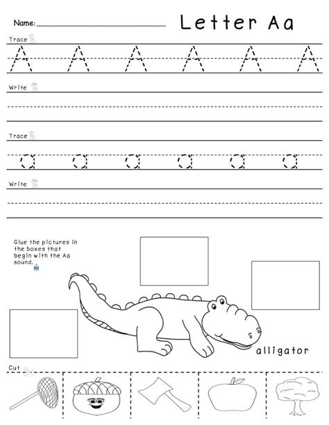 tracing writing  beginning sounds practice