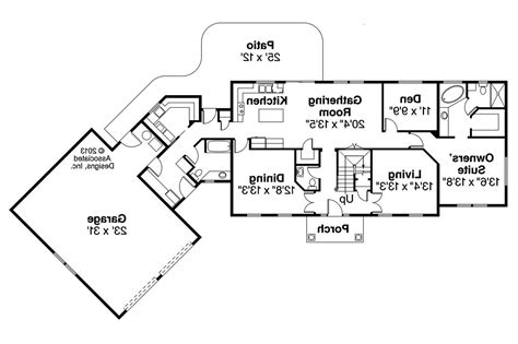 Colonial Floor Plans by Colonial House Plans Lansford 30 314 Associated Designs